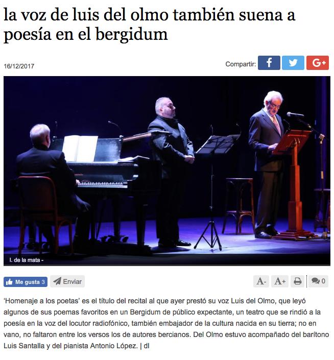 Prensa Luis del Olmo - Luis Santana, Producciones Lastra