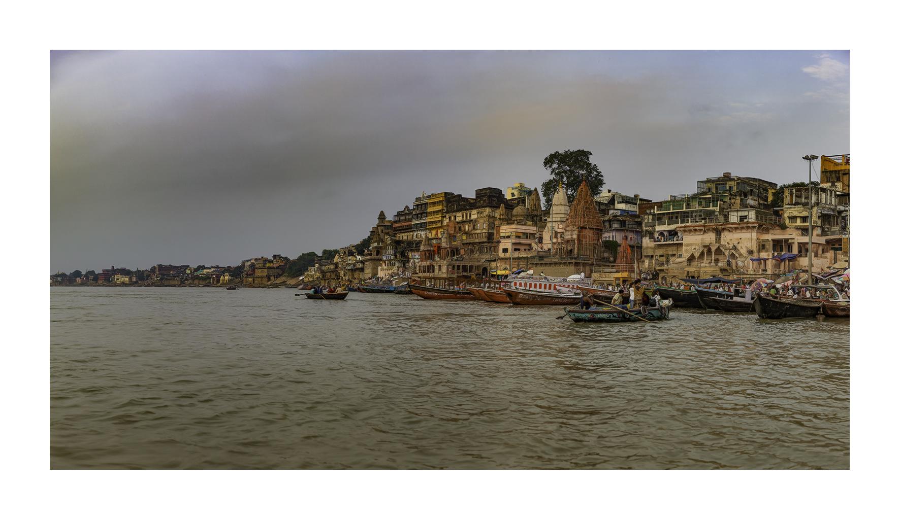 El Ganges en Benarés - Panorámicas de India - MVilches , Fotográfia
