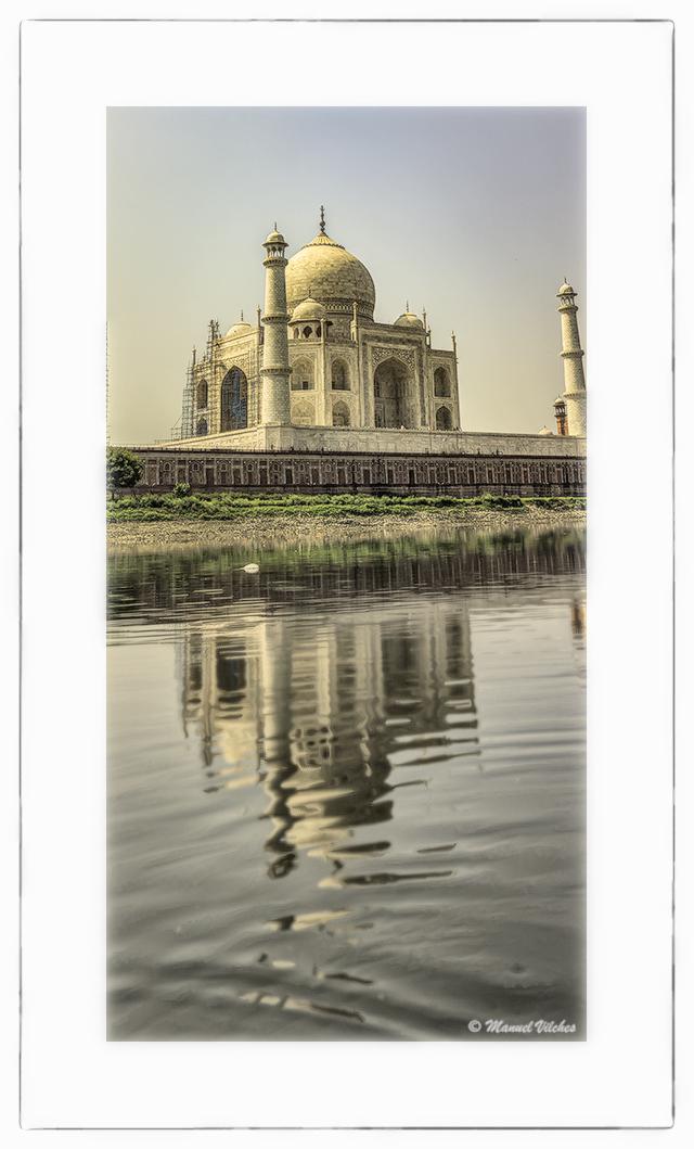 Taj Mahal sobre el Yamuna - Panorámicas de India - MVilches , Fotográfia