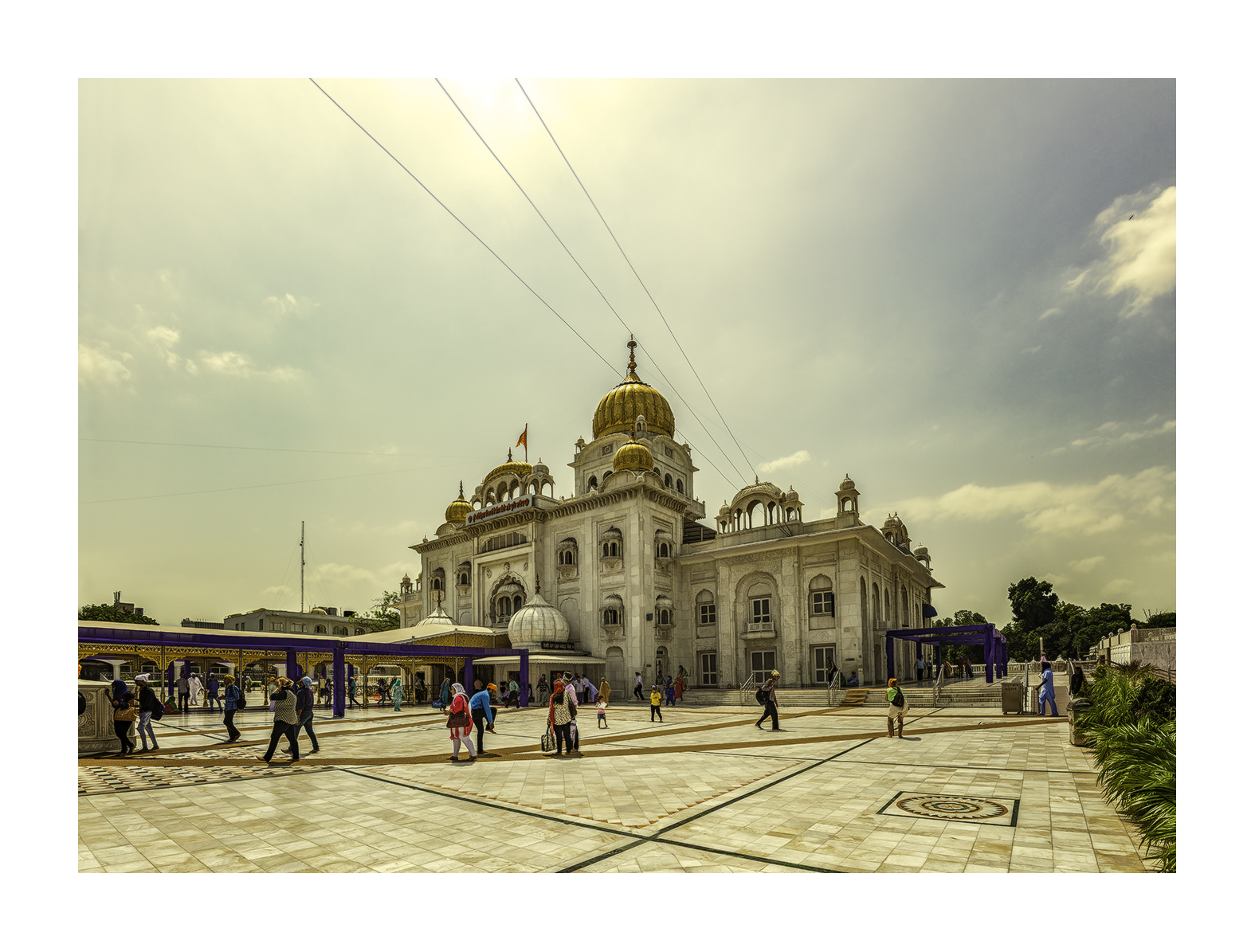 Gurdwara Bangla Sahib, Templo Sij  - Panorámicas de India - MVilches , Fotográfia