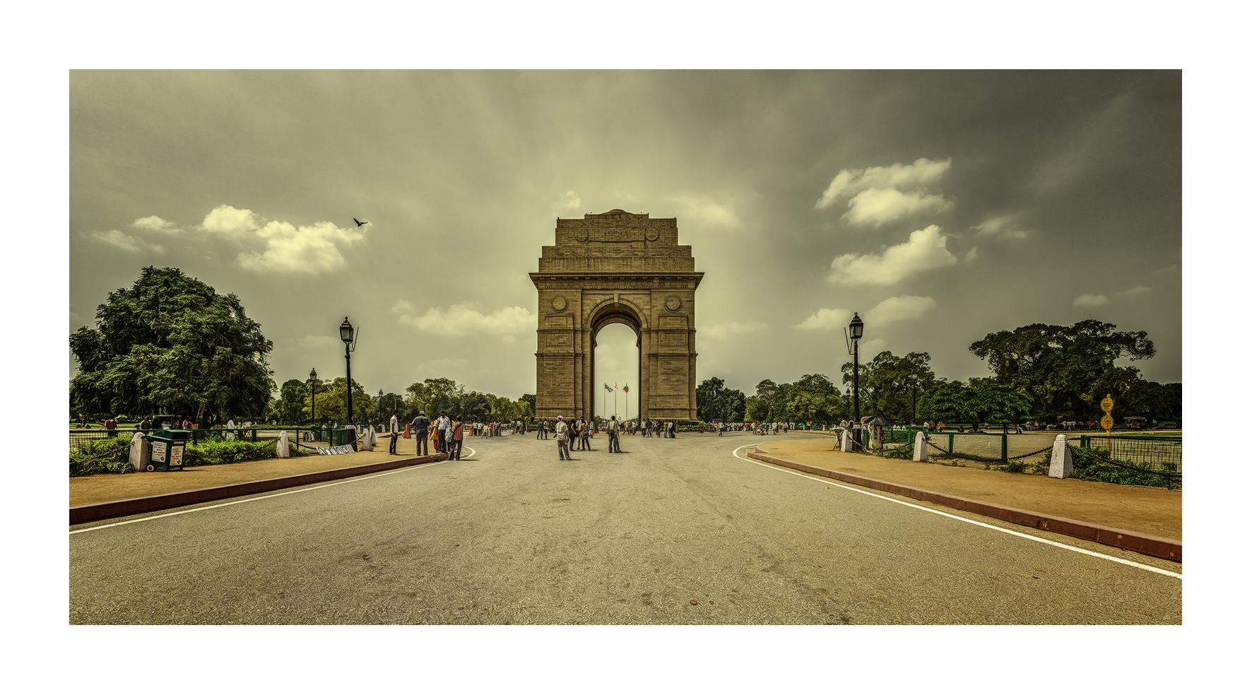 Puerta de La India, Nueva Delhi - Panorámicas de India - MVilches , Fotográfia