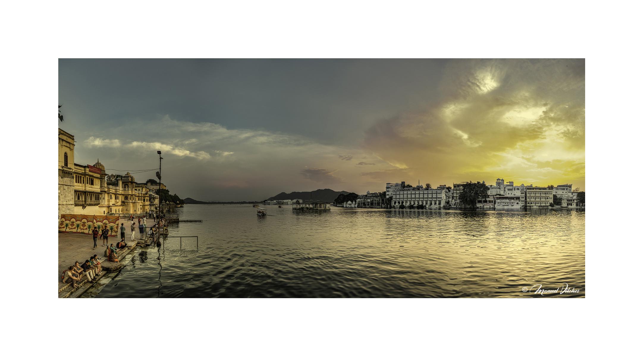 Atardecer en Lago Pichola, Udaipur - Panorámicas de India - MVilches , Fotográfia