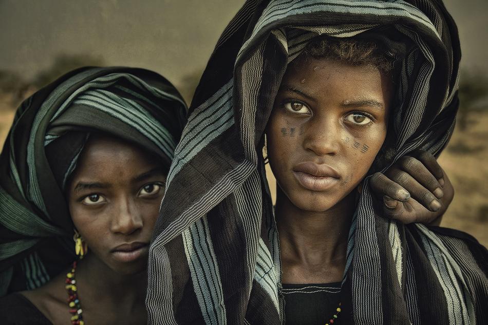 Niñas Bororo - Etnia Bororo, Níger - MVilches , Fotográfia