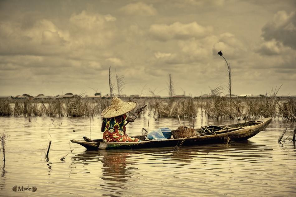 Lago Nukue, Benin - El río - MVilches , Fotográfia