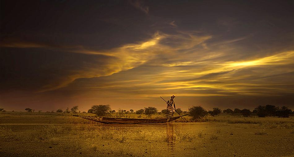 Atardecer en el Níger - El río - MVilches , Fotográfia