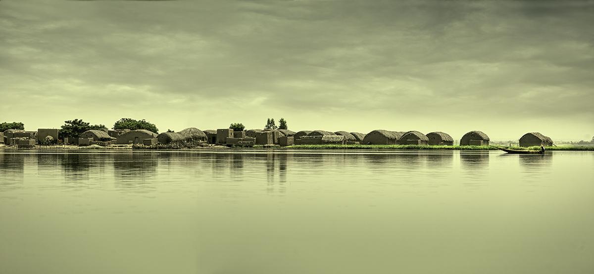 Poblado Bozo - El río - MVilches , Fotográfia