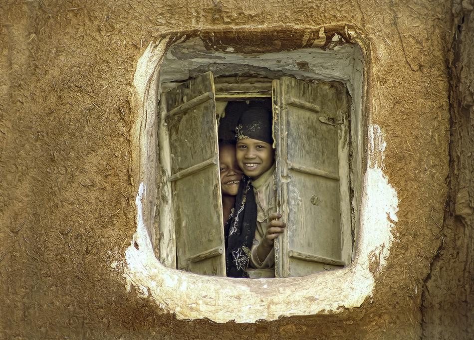 Niñas en Amrra - Yemen - MVilches , Fotográfia