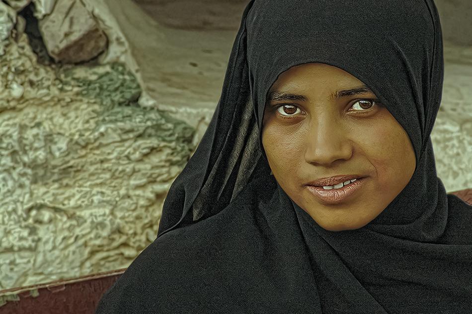 Rima, mi amiga en Jibla. - Yemen - MVilches , Fotográfia