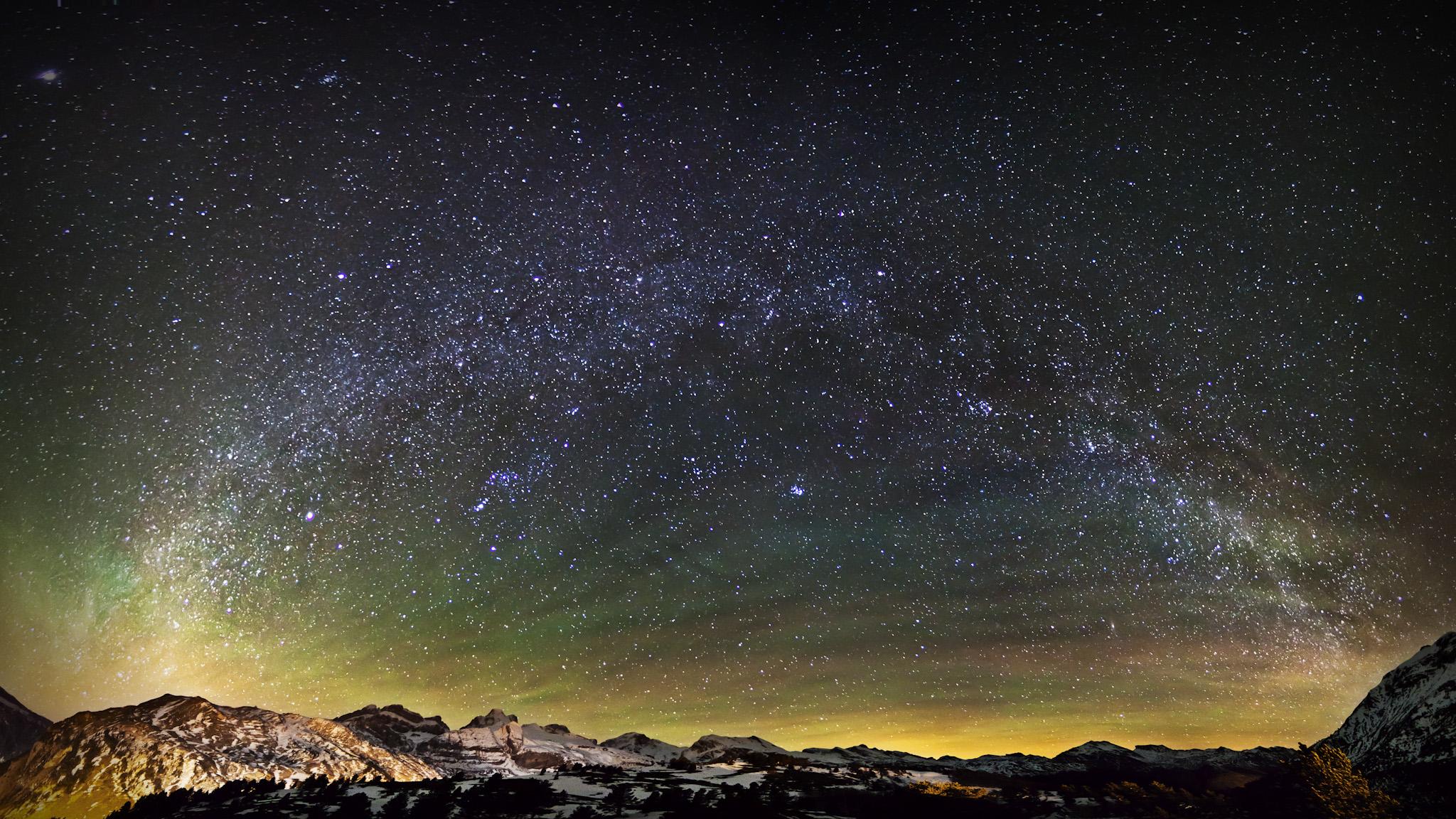 Vía Lactea sobre Candanchu - Paisajes del valle - Fotos del Valle del Aragón, Mikel Besga