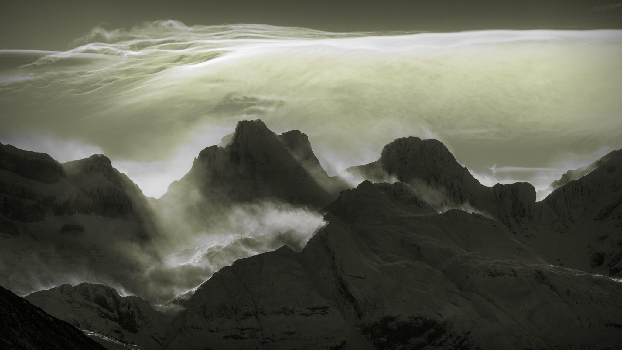 Nubes de viento sobre el Aspe - Paisajes del valle - Fotos del Valle del Aragón, Mikel Besga
