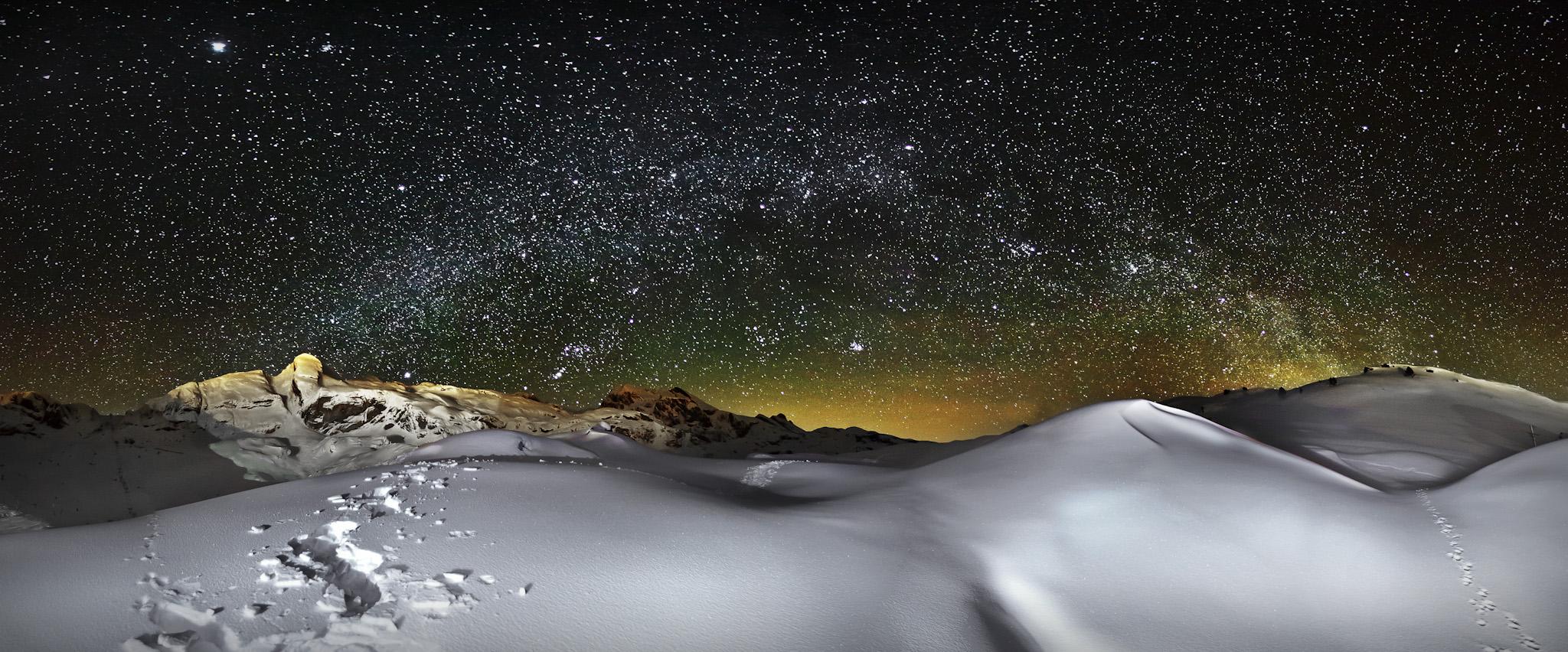 Vía Lactea desde el Teleroca - Paisajes del valle - Fotos del Valle del Aragón, Mikel Besga