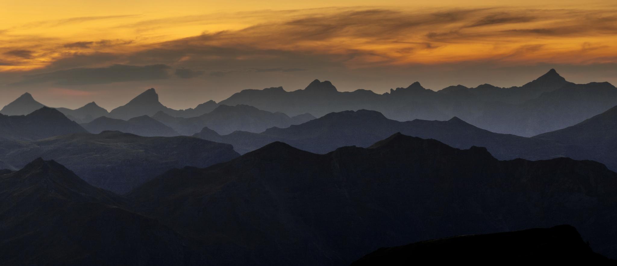 Panorámica hacia el Pirineo navarro desde Arnousse - Paisajes del valle - Fotos del Valle del Aragón, Mikel Besga