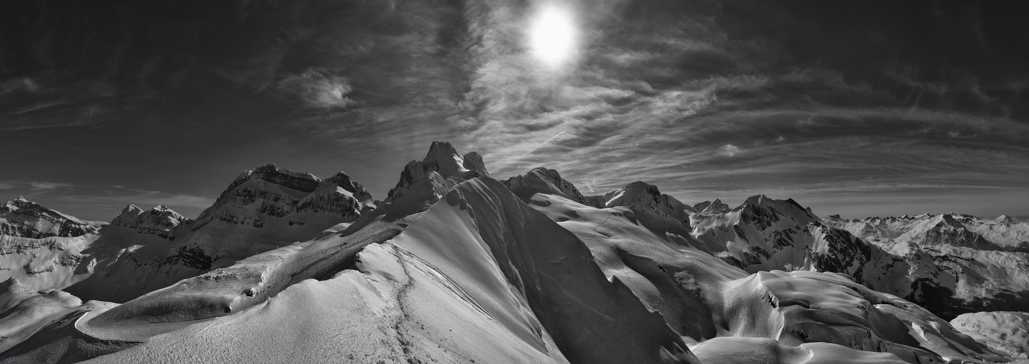 Panorámica desde la punta de La Zapatilla - Paisajes del valle - Fotos del Valle del Aragón, Mikel Besga