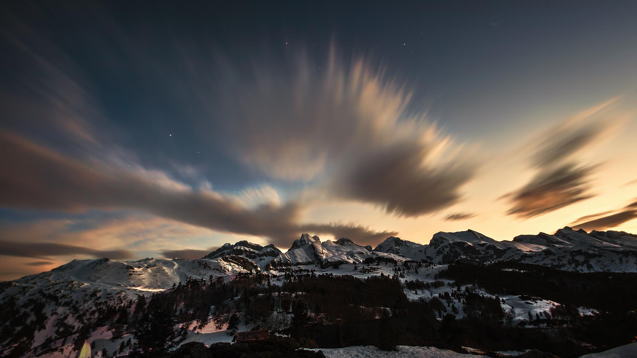 Atardecer desde la frontera - Paisajes del valle - Fotos del Valle del Aragón, Mikel Besga