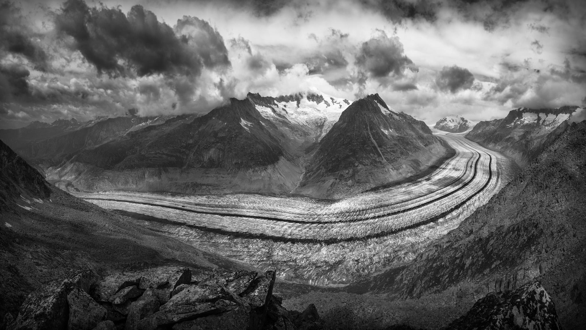 Glaciar Aletsch - Otras montañas - Fotos del Valle del Aragón, Mikel Besga