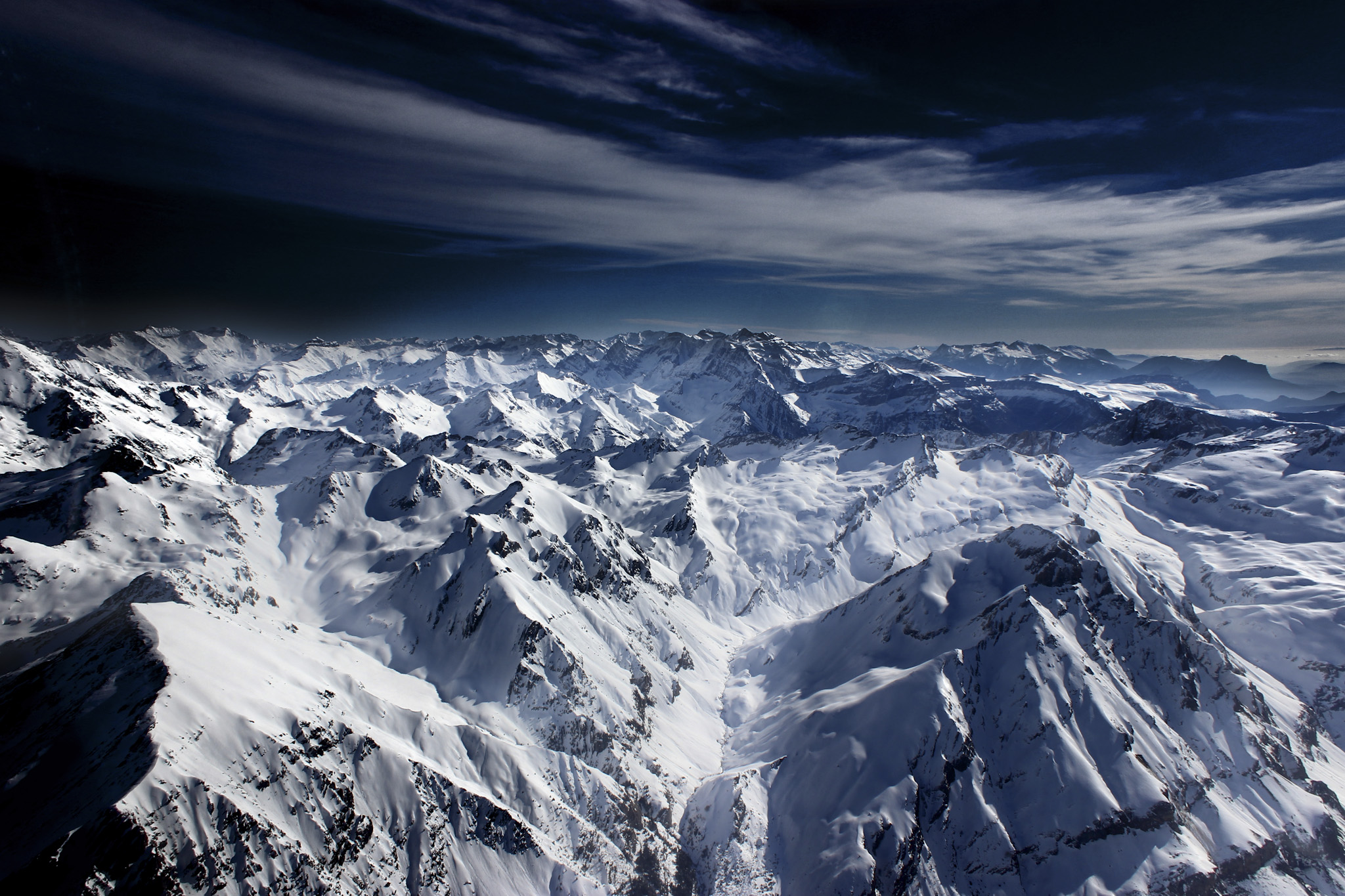 Pirineo central desde la vertical de Panticosa - Otras montañas - Fotos del Valle del Aragón, Mikel Besga