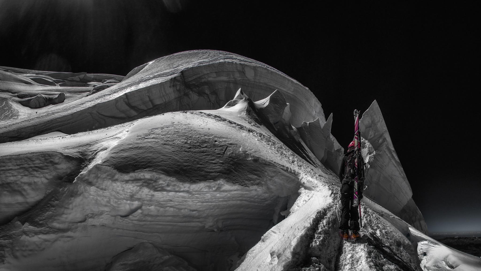 Mont Blanc de Tacul, Marta Hekneby - Ski & Snowboard - Fotos del Valle del Aragón, Mikel Besga