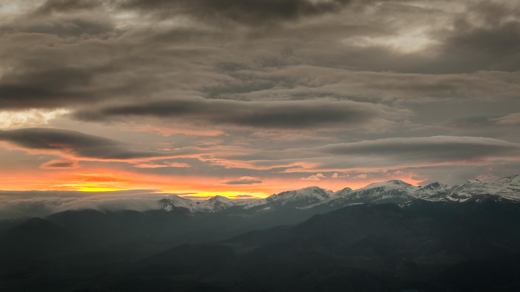 Atardecer en La Cerdanya - Otras montañas - Fotos del Valle del Aragón, Mikel Besga