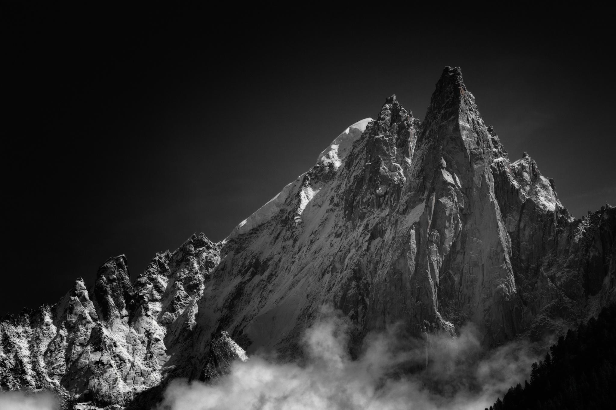 Les Drus y Aiguille Verte, Chamonix - Otras montañas - Fotos del Valle del Aragón, Mikel Besga