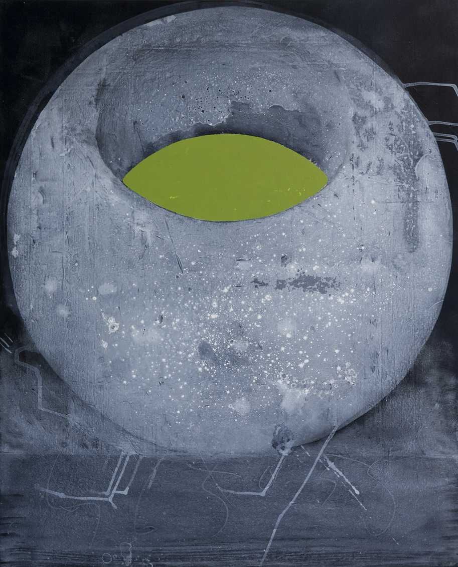 Svein Telescope / 2016 / Acrylic painting on canvas  / 100x80 cm - SPACE - Pere Galera