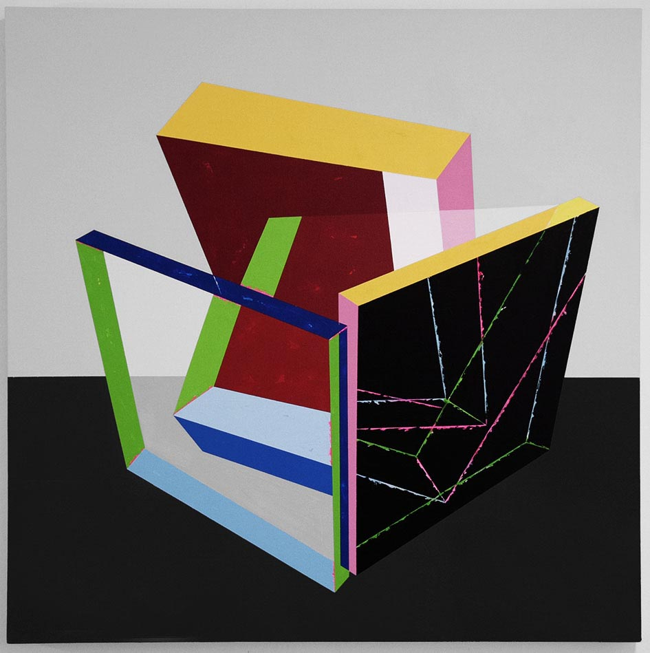 Balance exercise in a room / 2014 / Acrylic on canvas  / 100x100 cm - STAGE  - Pere Galera