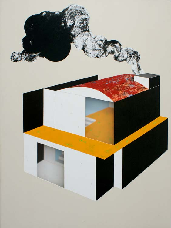 Factory home / 2007 / Acrylic on canvas on wood plate and methacrylate  / 120x90x5 cm - HOME - Pere Galera. Paintings