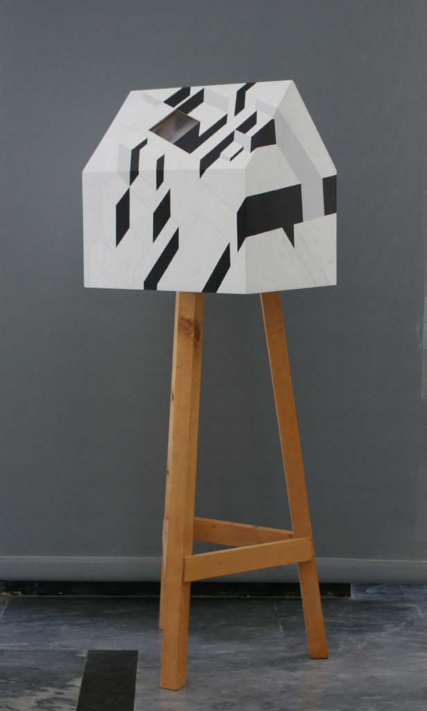 Transportable residence / 2006 /  Wood, plexiglas, synthetic paint / 110x50x50 cm - HOME - Pere Galera. Paintings