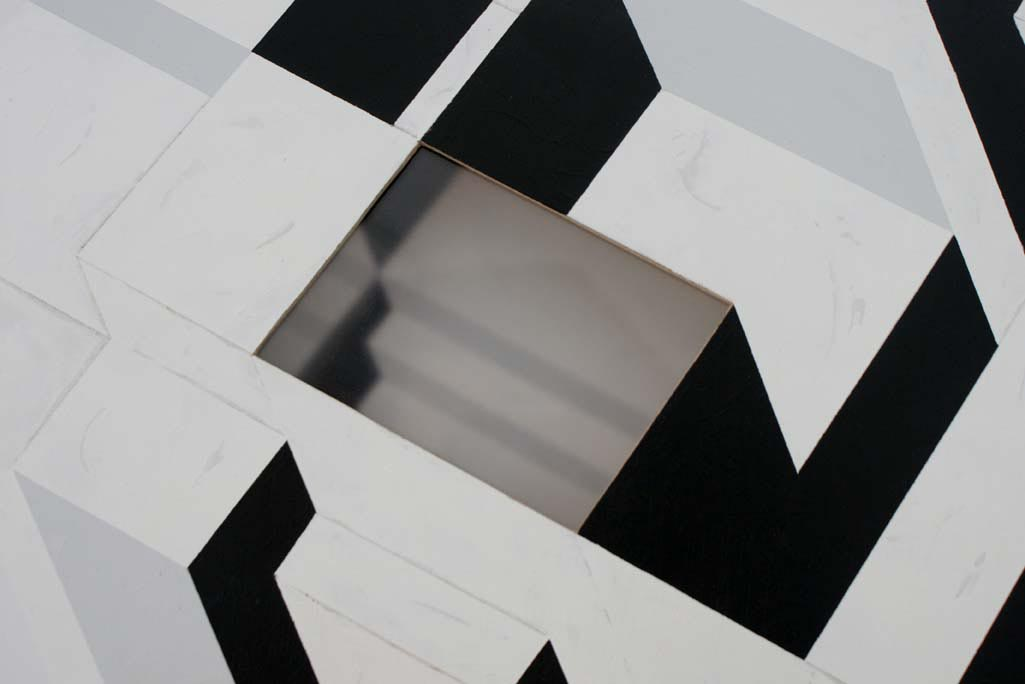 Transportable residence /  Wood, plexiglas, synthetic paint / 110x50x50 cm - HOME - Pere Galera. Paintings