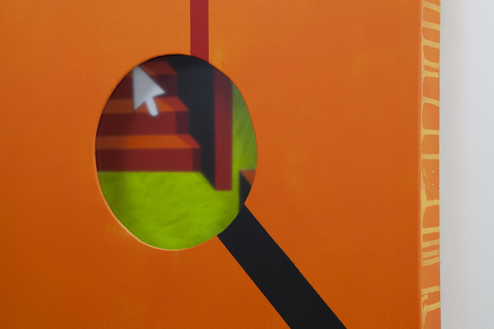 Hole in orange background / 2018 / Profile - HOME - Pere Galera. Paintings