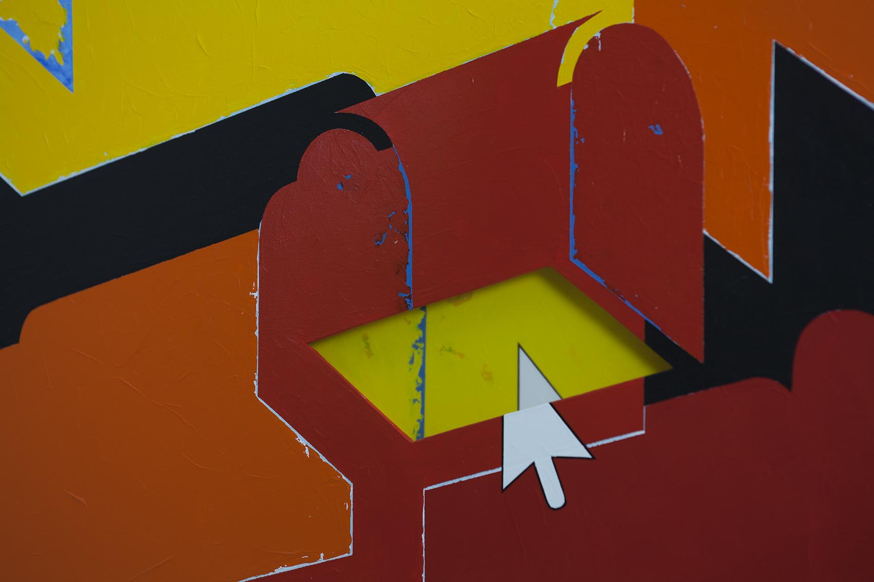 Red and yellow chests / 2018 / Detail - HOME - Pere Galera. Paintings