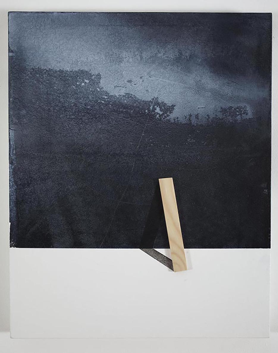 Ways to holding the landscape / 2015 /  Acrylic paint and wooden strip on canvas / 50x40 cm  - STAGE  - Pere Galera