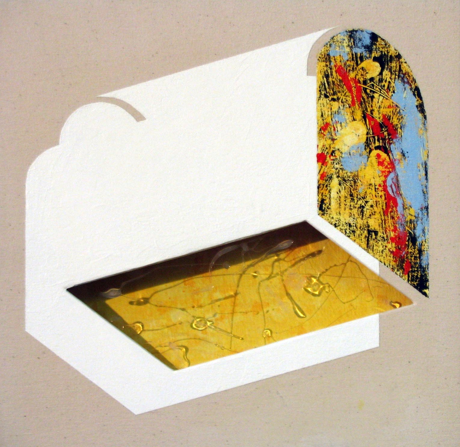 White chest / 2004 / Acrylic on canvas on wood plate and methacrylate  / 60x60x5 cm - HOME - Pere Galera. Paintings