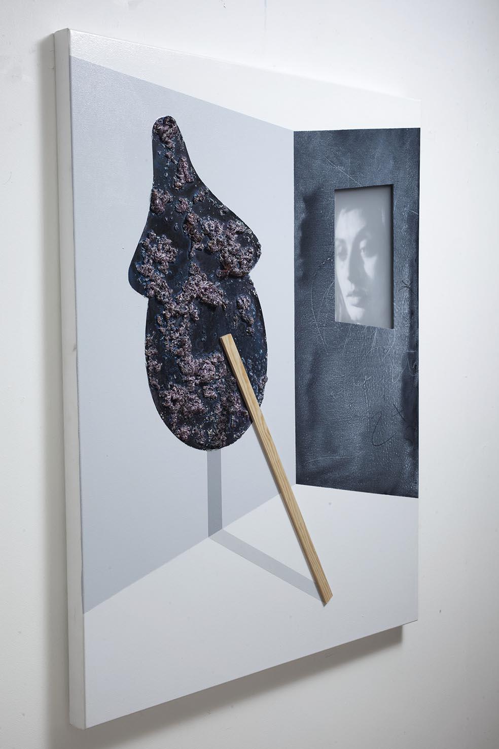 Pinocchio and Sofia / 2017 / Acrylic paint, wooden strip, plexiglass and polyurethane foam on canvas / 100,80 cm - STAGE  - Pere Galera