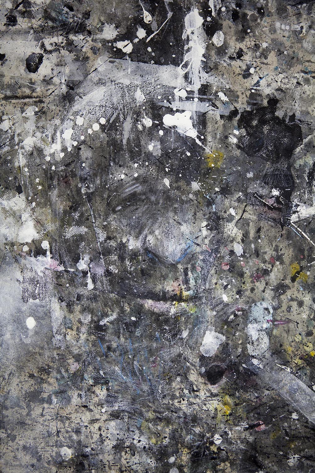 The black Pope / detail - APPARITIONS floor - Pere Galera