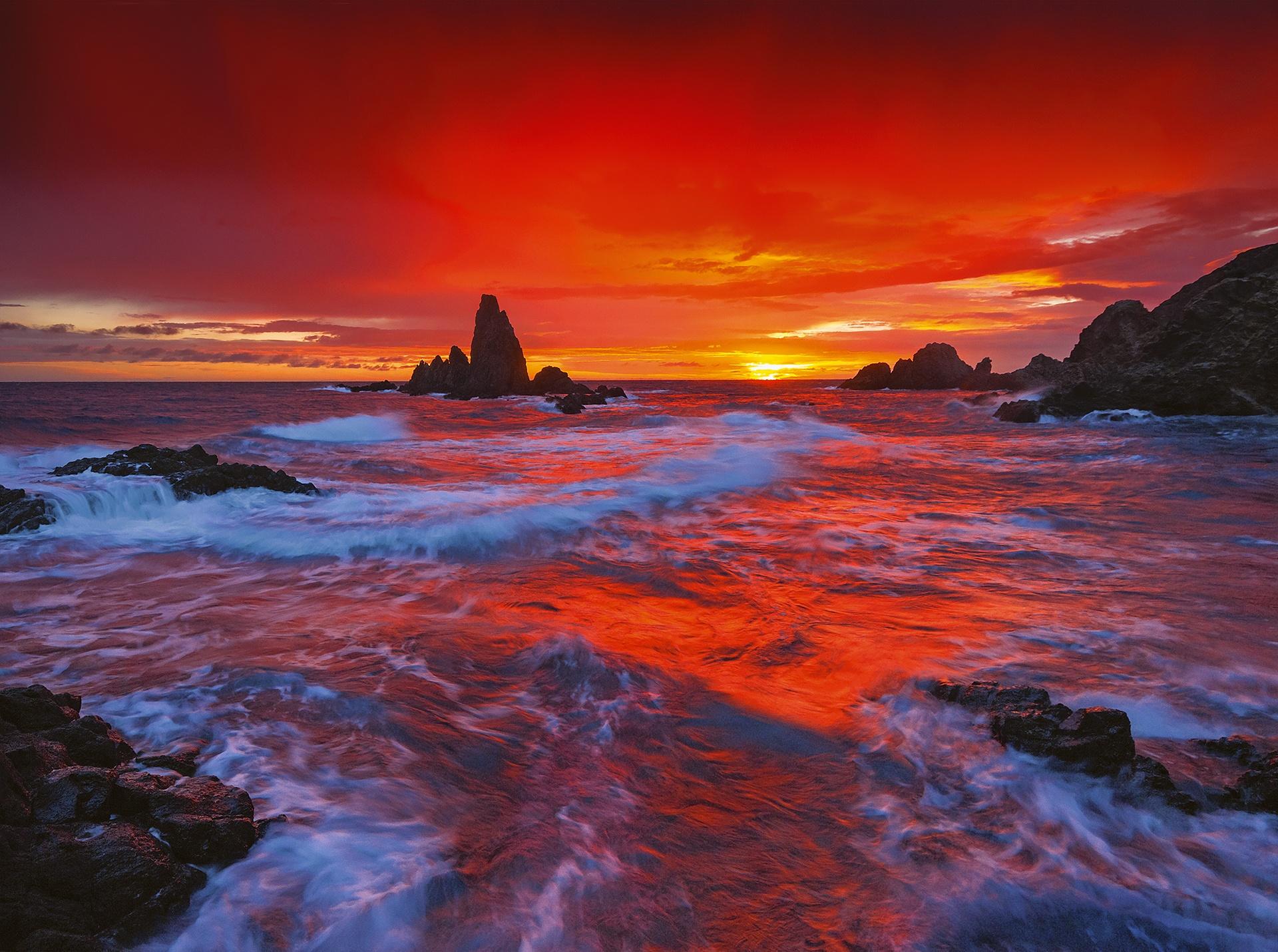 Cabo de Gata - On fire - Peter Manschot Al Andalus Photo Tour, Landscape photography photos prints workshops Andalusia Spain