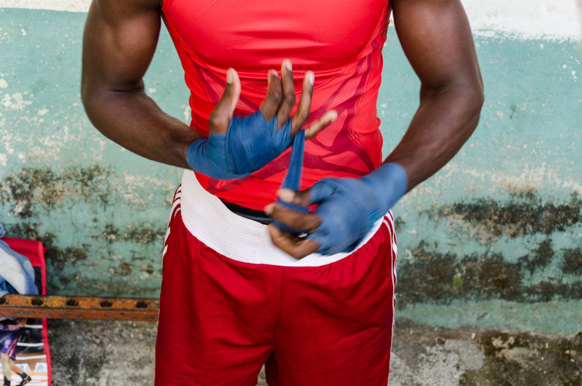 Rafael Trejo - Rafael Trejo Boxing gym, Pictures of cuban boxers in their old gym in Havana. Boxing training and practices in Havana. Workshop