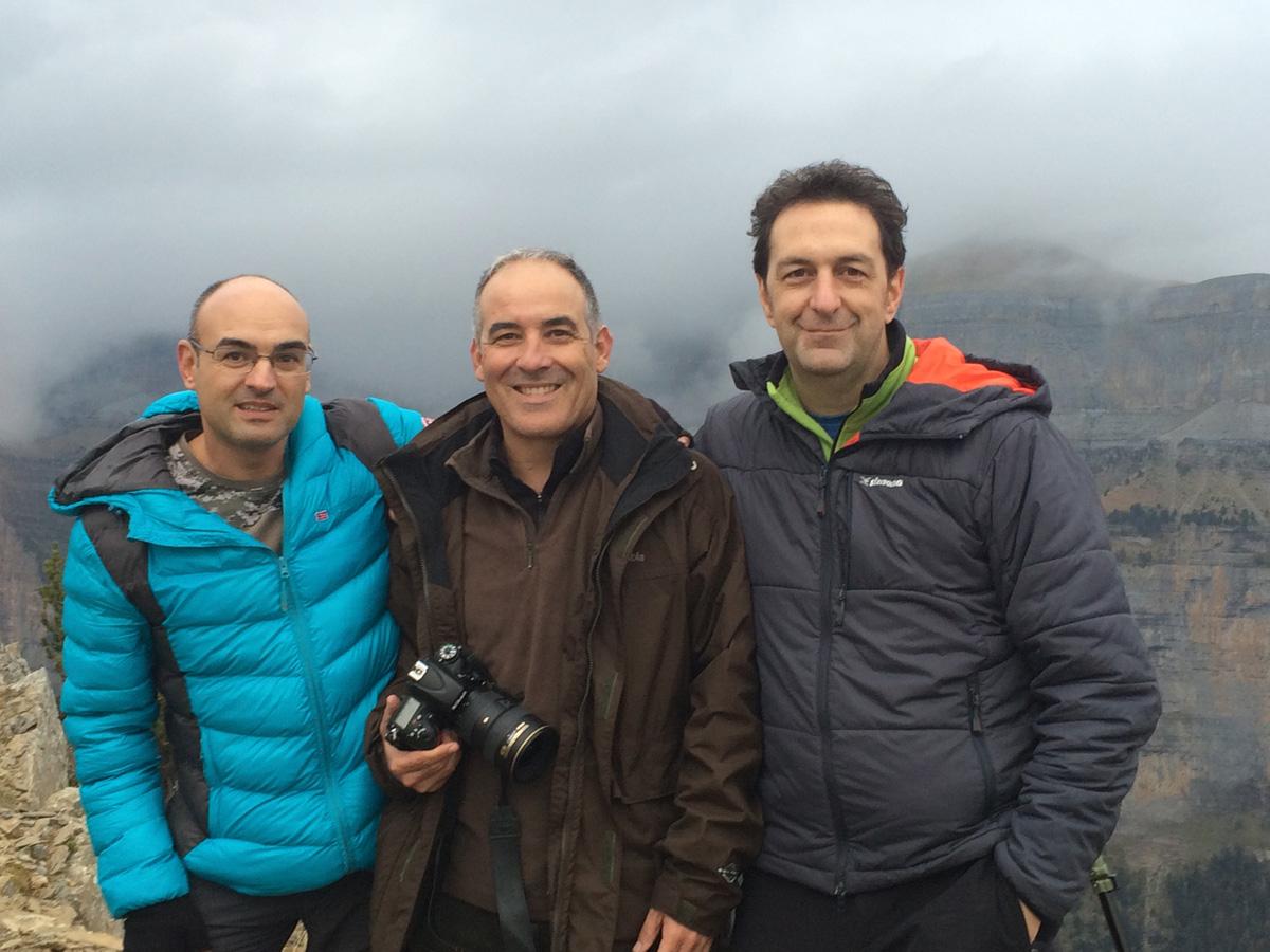 Con Alfonso Lario y Javier Alonso Torre en Ordesa. España 2016 - With Alfonso Lario and Javier Alonso Torre in Ordesa. Spain 2016 - Raimon Santacatalina | Moments