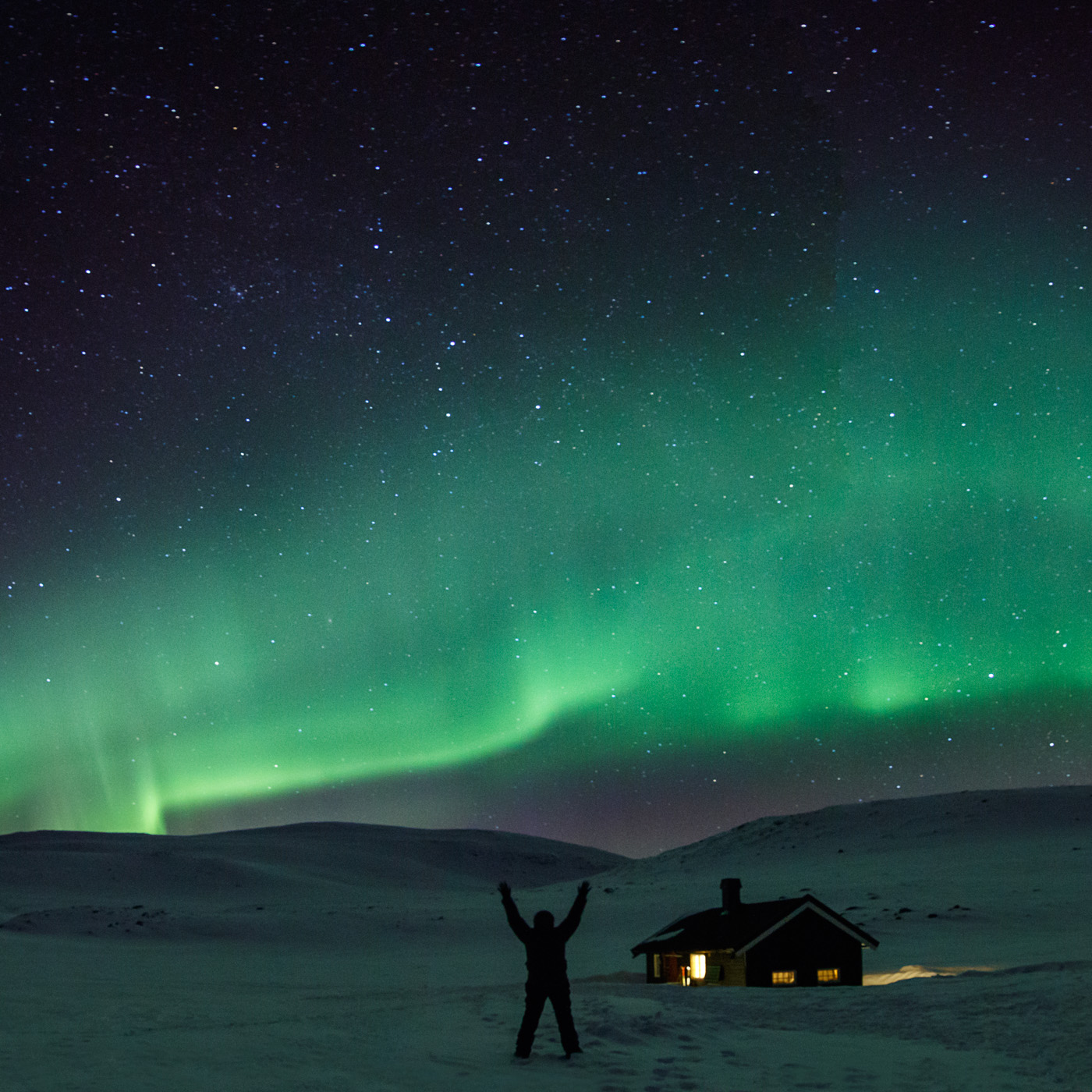 Aurora Boreal_Panoràmica quadrada - Panoràmiques - Raül Carmona - Fotografia, Fotografia d'estudi, esdeveniments i Natura