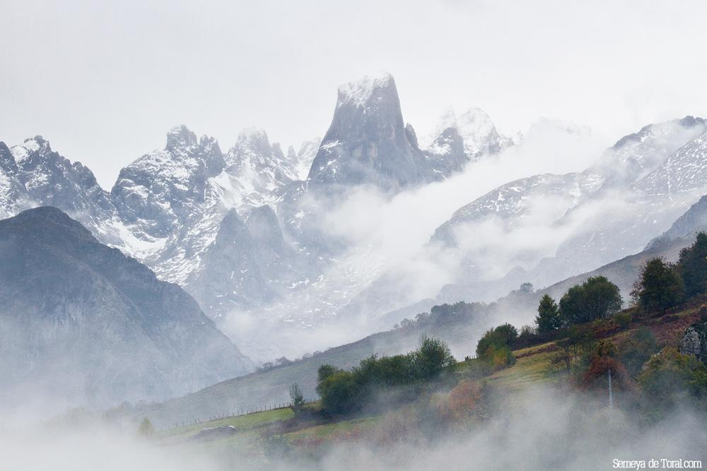 Otra vista aunando nieve y ocres. - Picu Urriellu - Semeya  de Toral