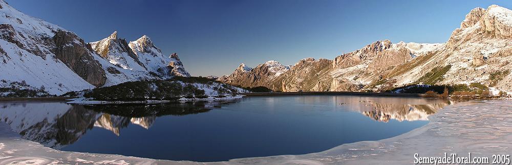 Lago del Valle invernal - PANORÁMICAS - Semeya  de Toral