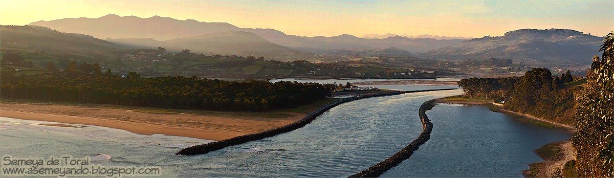 Desembocadura de la ría de Villaviciosa - PANORÁMICAS - Semeya  de Toral