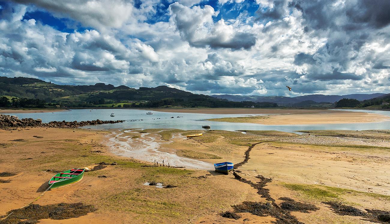 Bohome, estuario de la Ría de Villavicios, (El Puntal). - MAR - Semeya  de Toral