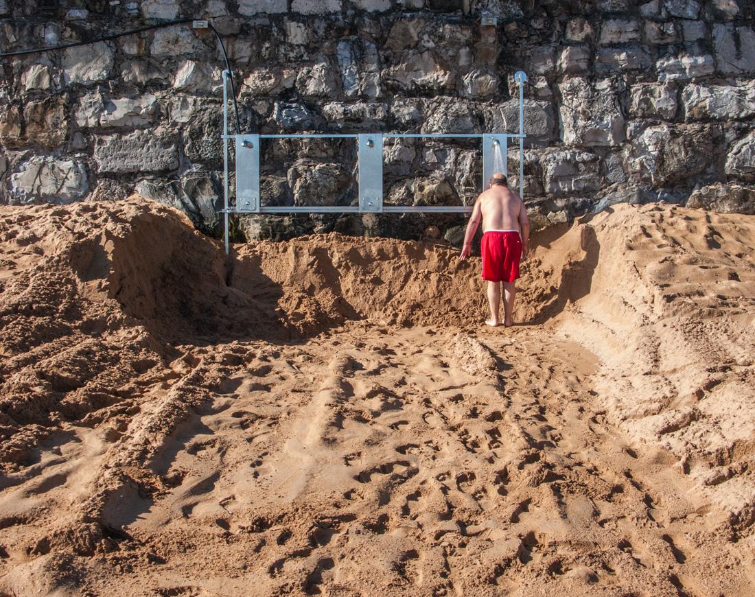 Ducha - RIO PILES A SAN PEDRO. 2009 - senenmerino.Fotografías Playa de Gijón.