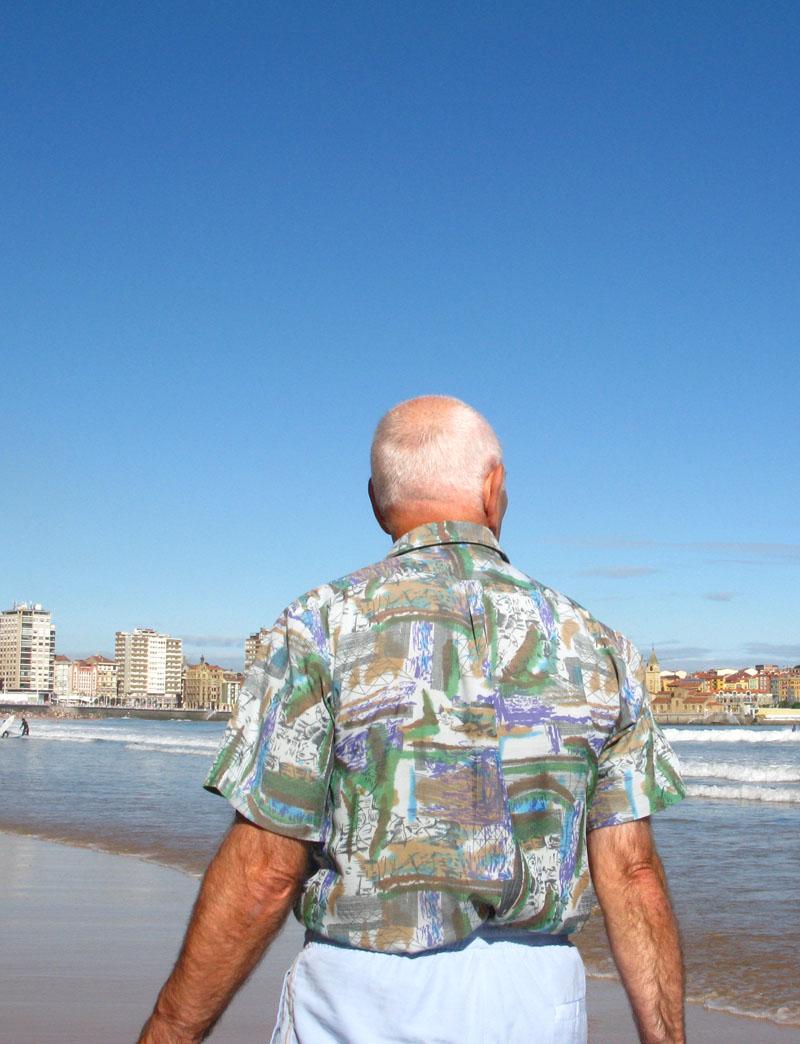 Camisa - RIO PILES A SAN PEDRO. 2009 - senenmerino.Fotografías Playa de Gijón.