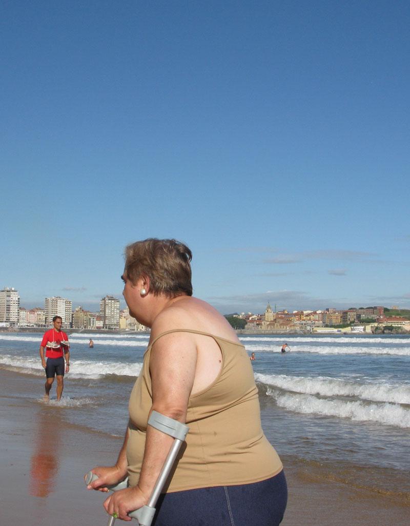 Muletas - RIO PILES A SAN PEDRO. 2009 - senenmerino.Fotografías Playa de Gijón.