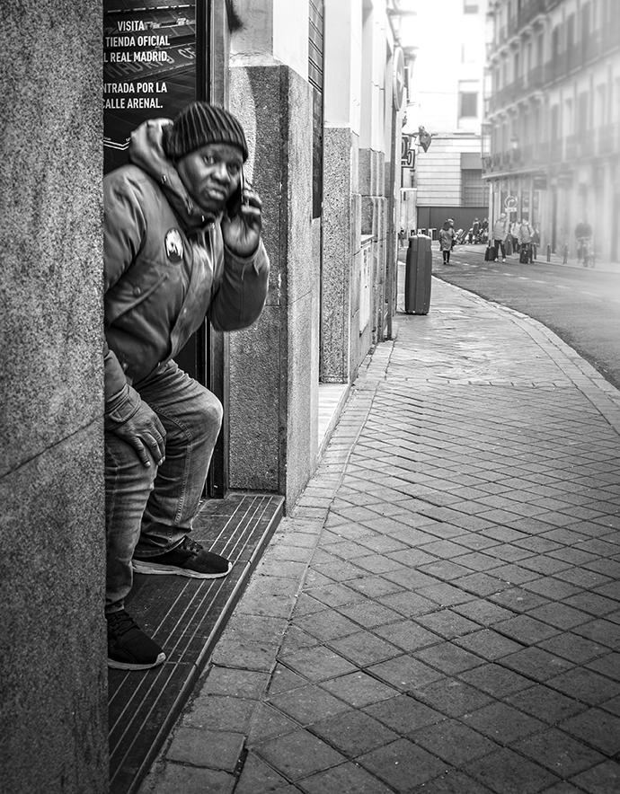 Madrid 2018 (E) - Street-b&w - Urbano Suárez,  FineArt Photography