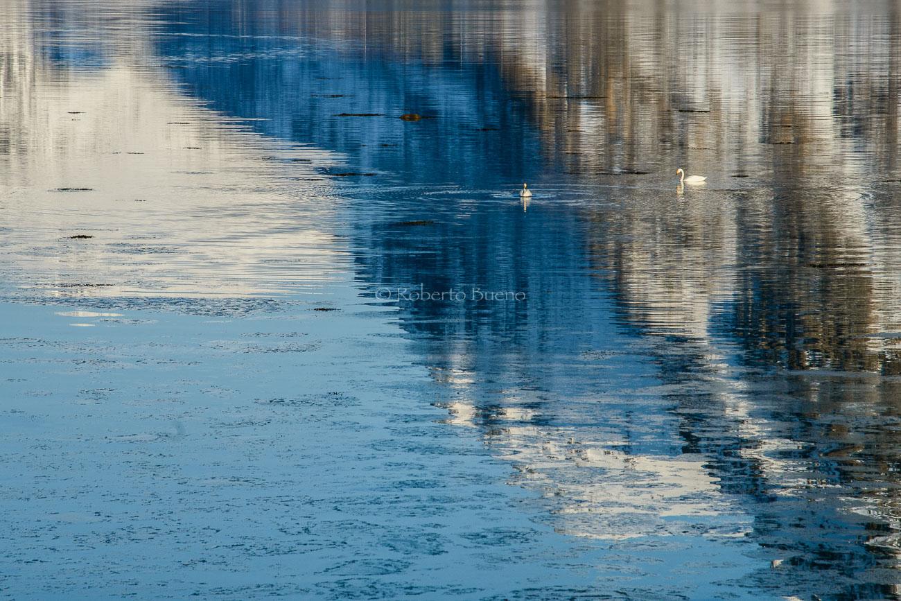 Reflejos - Islas Lofoten - Islas Lofoten, Noruega. Roberto bueno. Paisajes de invierno