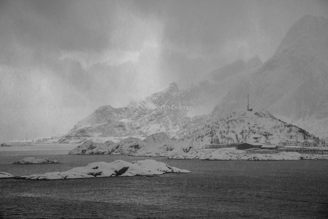 Tormenta de nieve - Islas Lofoten - Islas Lofoten, Noruega. Roberto bueno. Paisajes de invierno