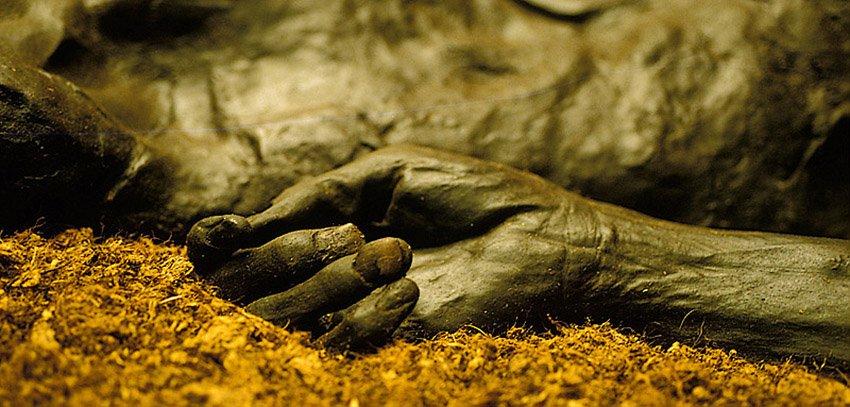 El hombre de Grauballe, Moesgard - Huellas de historia - Fósiles, arqueología, historia - Roberto Bueno – Miliarios, museos, tumbas