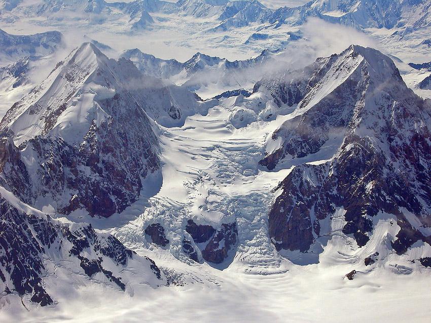 Glaciar en el Parque Nacional Kluane. Yukon © Olalla Bueno - Yukon, NWT y Dempster - Roberto Bueno. Luces del Planeta. Fotografías. Yukon, Territorios del Noroeste y Dempster Highway